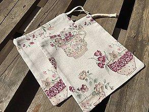 Úžitkový textil - vrecúško nostalgia - 11858869_