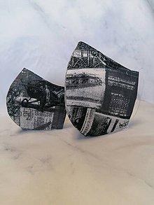 Rúška - Set rúšok 2-vrstvové na vkladanie pánske a detské - 11860110_