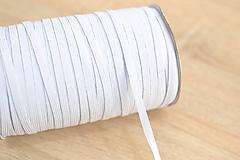 Galantéria - biela prádlová guma 6 mm - 11858747_