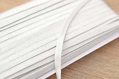 Galantéria - mäkká plochá biela guma 7 mm - 11859354_