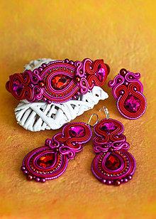 Sady šperkov - Soutache set (náušnice, náramok a prsteň) - 11862386_