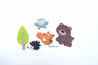 Detské doplnky - SADA lesných zvieratiek ll. - 11863166_