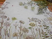 """Úžitkový textil - Ľanový maľovaný obrus """" Lúčne trávy """" - 11866147_"""