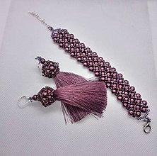 Sady šperkov - Náramok a náušnice - 11864218_