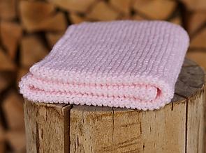 Textil - Pastelovo-ružová deka - 11863589_