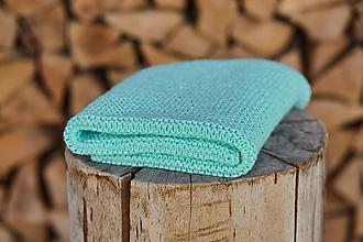 Textil - Mentolovo-zelená deka - 11866179_