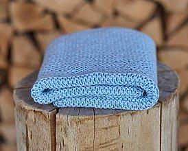 Textil - Bledo-modrá detská deka - 11866194_