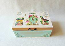 Krabičky - Drevená krabička Záhradná - 11865693_