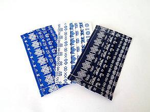 Rúška - Sada 3 bavlnených rúšok Čičmany  zvýhodnená cena - 11863205_