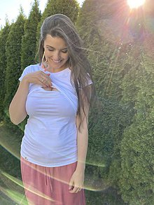 Tričká - Tričko na dojčenie basic white - 11865541_