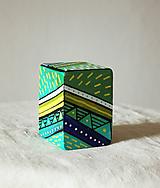 Hudobné nástroje - Maľovaný shaker - mini cajon - 11866595_