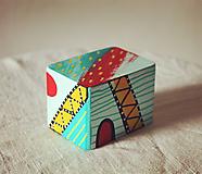Hudobné nástroje - Maľovaný shaker - mini cajon - 11866661_