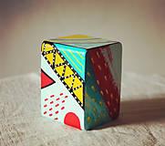 Hudobné nástroje - Maľovaný shaker - mini cajon - 11866662_