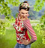 Tričká - Tričko Patchwork Poppy - 11863455_