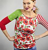 Tričká - Tričko Patchwork Poppy - 11863456_