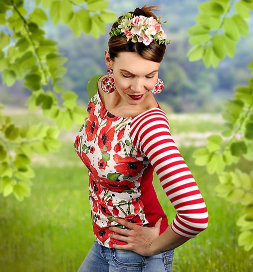 Tričko Patchwork Poppy