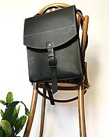 Batohy - Kožený batoh - urban čierny - 11863045_