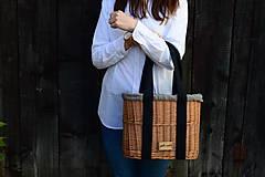 Kabelky - Prútená kabelka do ruky N°3 (Prútená kabelka do ruky N°3 svetlý ľan) - 11864314_