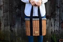 Kabelky - Prútená kabelka do ruky N°3 (Prútená kabelka do ruky N°3 svetlý ľan) - 11864316_