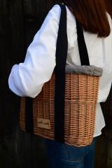 Kabelky - Prútená kabelka do ruky N°3 (Prútená kabelka do ruky N°3 svetlý ľan) - 11864318_