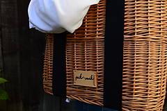 Kabelky - Prútená kabelka do ruky N°3 (Prútená kabelka do ruky N°3 svetlý ľan) - 11864319_