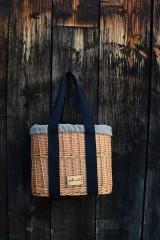 Kabelky - Prútená kabelka do ruky N°3 (Prútená kabelka do ruky N°3 svetlý ľan) - 11864320_