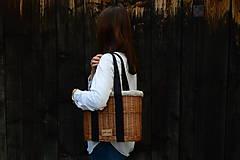 Kabelky - Prútená kabelka do ruky N°3 (Prútená kabelka do ruky N°3 svetlý ľan) - 11864347_
