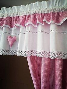 Úžitkový textil - Záclonka +závesy pre princeznu - 11865132_