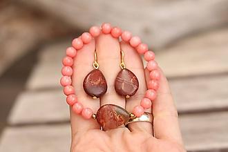 Sady šperkov - Súprava náušnice + náramok - 11863672_