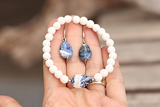 Sady šperkov - Súprava náušnice + náramok - 11866400_