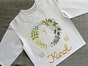 Detské oblečenie - Lístková na krst - 11870529_