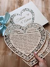 Darčeky pre svadobčanov - Srdiečko Poďakovanie rodičom 25 (Poďakovanie (zmena dátumu a mena)) - 11868253_
