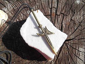 Šperky - pre rytierov-bojovníkov:,,palcát,, a iné (halapartňa,bronz) - 11872410_