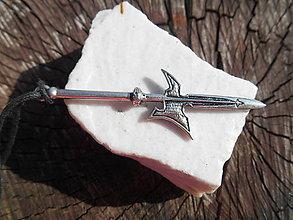 Šperky - pre rytierov-bojovníkov:,,palcát,, a iné (halapartňa,striebro) - 11872417_