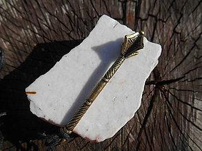 Šperky - pre rytierov-bojovníkov:,,palcát,, a iné (palcát II,bronz) - 11872452_