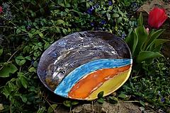 Nádoby - keramická misa - Večerná pláž - 11868782_