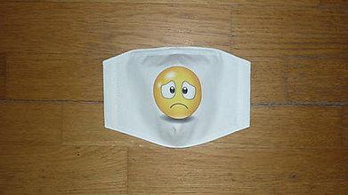 Rúška - Rúško bavlnené dvojvrstvové smajlíci (číslo 6) - 11871492_
