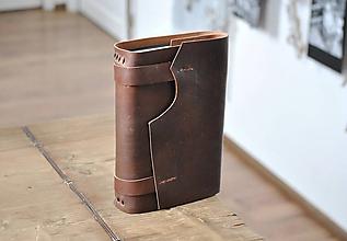 Papiernictvo - Kombinovaný kožený zápisník POE - 11870142_