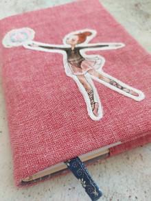 Papiernictvo - Obal na knihu, Baletka s loptou - 11868244_