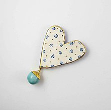 Odznaky/Brošne - TANA hand made jewellery - keramika/zlato - 11868747_