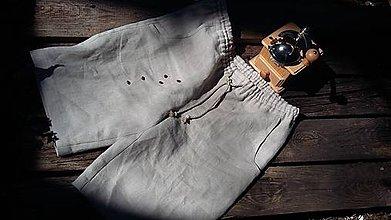 Oblečenie - Ľanové pohodlné kraťasy - 11871106_