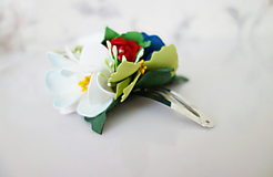 Kvetinová sponka Folk
