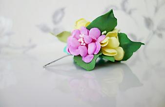 Ozdoby do vlasov - Kvet v rozpuku(sponka do vlasov) - 11870275_
