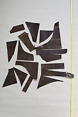 Suroviny - Zbytková koža hnedá melírovaná - POSLEDNÝ BALÍK - 11872249_