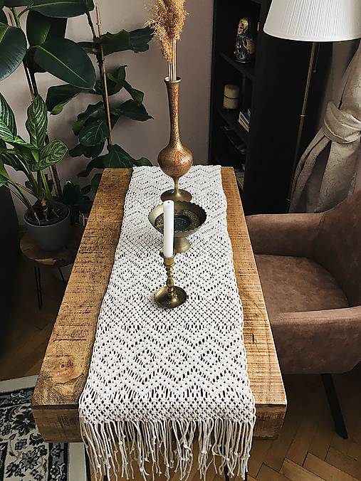 Úžitkový textil - Macrame obrus - 11869905_