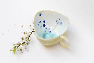 Nádoby - šálka kvet modrá - 11869481_
