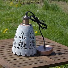 Svietidlá a sviečky - Lampa s vyrezávaným vzorom - 11871262_