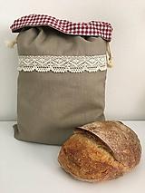 Úžitkový textil - Podšité ľanové vrecko s bavlnenou krajkou - 11868658_