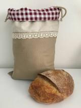 Úžitkový textil - Podšité ľanové vrecko s bavlnenou krajkou - 11868873_