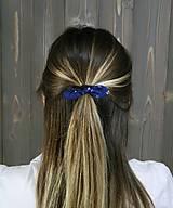 Ozdoby do vlasov - modrotlačová gumička lístočky mini 1 - 11868182_